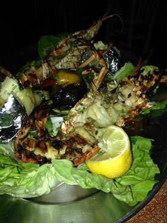 Mykonos Palace Beach Hotel: Langouste grillée