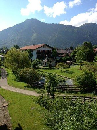 Hotel Bachmair Weissach : Blick vom Balkon