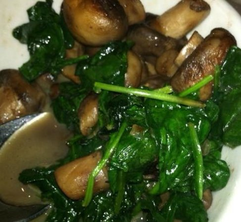 Morton's - The Steakhouse: spinich and mushroom caps
