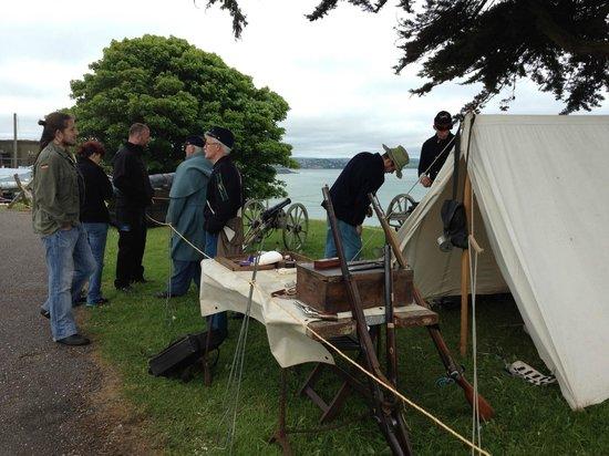 Camden Fort Meagher: Reenactors