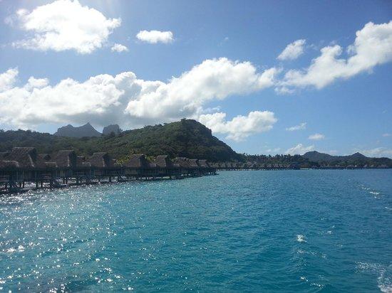 Conrad Bora Bora Nui : 帰りの空港へ向かうボートから