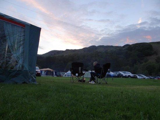 Fisherground Campsite: Sunset in the evening