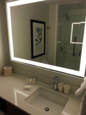 Hilton Garden Inn New York/Central Park South-Midtown West: bathroom mirror