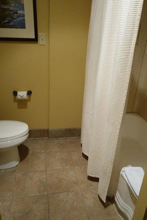 Yosemite Valley Lodge: large, clean bathroom - everything looked kinda new?