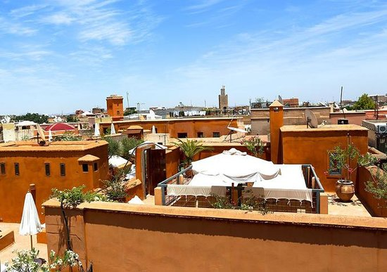Riad Eva : 360 degree unobstructed views from the top level terrace