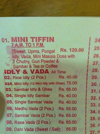 Mini Tiffin for breakfast.  Great sampler.