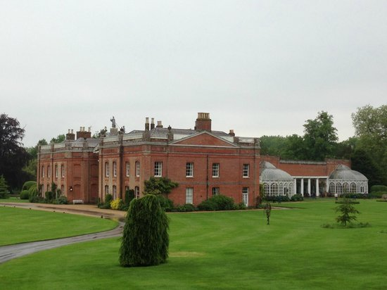 Avington Park: Taken from the car park showing the sweep of the house