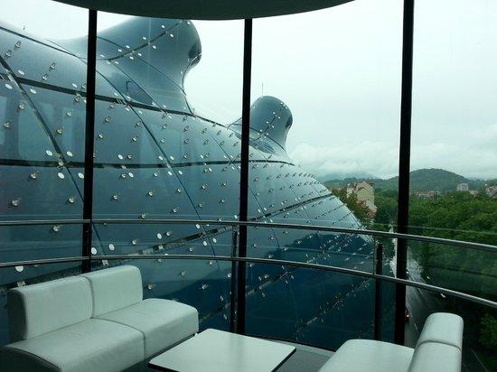 Kunsthaus Graz : крыша музея вблизи