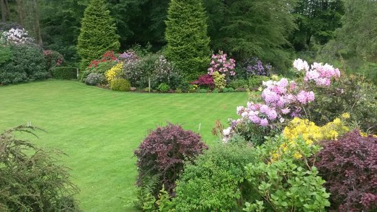 Linthwaite House Hotel : The Garden from the front door.