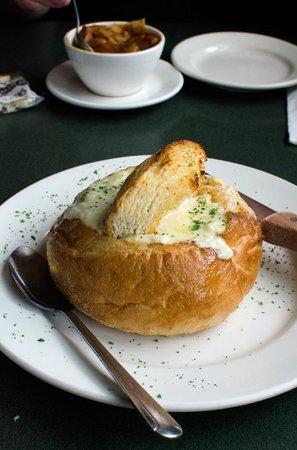Lobster Pot: Clam chowder in a bread basket