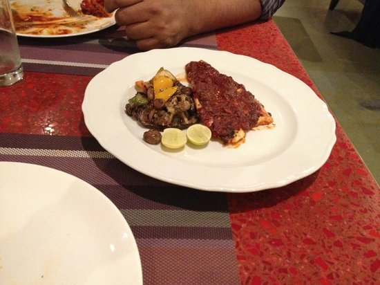 Goa Marriott Resort & Spa: A fish dish from Simply Grills that the hubby had-forgotten name