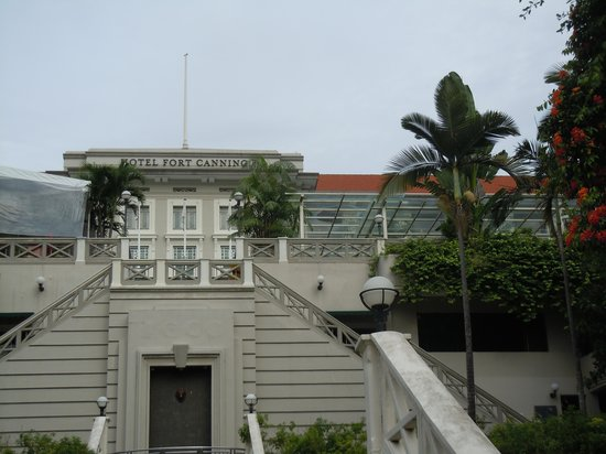 Hotel Fort Canning: acces par les excaliers