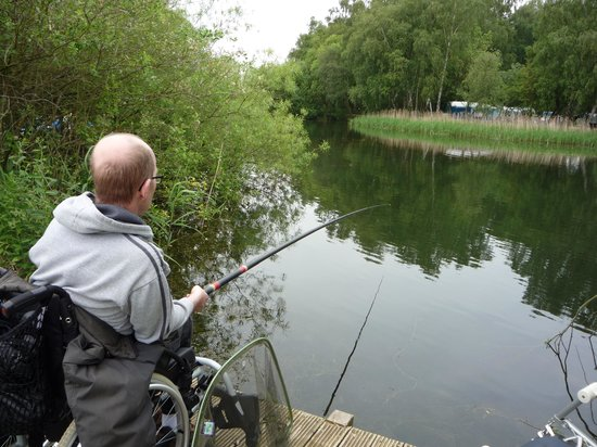 Tattershall Lakes Country Park: One of the many fishing lakes.