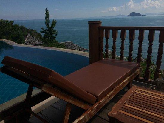 Santhiya Koh Yao Yai Resort & Spa: Lookout towards Phuket over private pool from Villa Deck