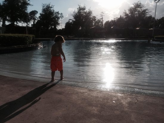 Hilton Orlando Bonnet Creek: Dusk at the pool, best top off to a park day.