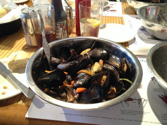 Water Prince Corner Shop and Lobster Pound : Fresh PEI blue mussels