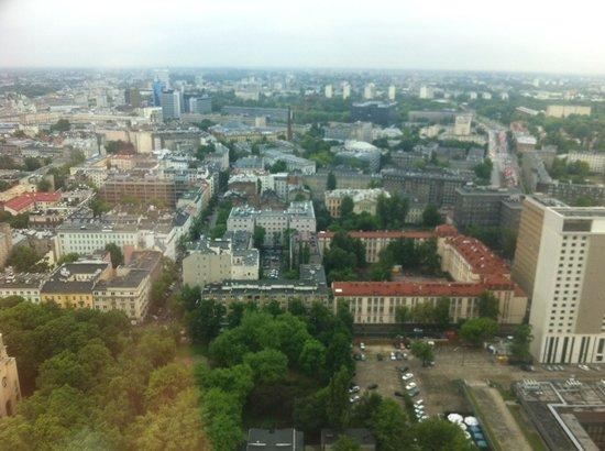 Warsaw Marriott Hotel: вид с нашего номера на 35 этаже