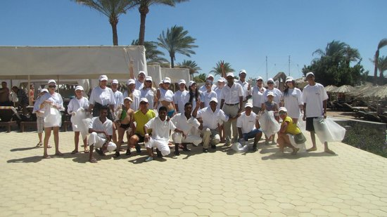 Sindbad Beach Resort : Clean up day in  Beach Resort