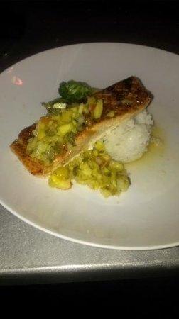 Martini's Chophouse: Wild Caught Salmon with Mango & Pineapple Salsa
