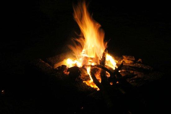 Galibore Nature Camp: bonfire