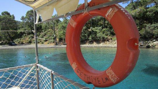 Sugar's Boat Tours: Blick vom Oberdeck auf Tarzans Bay
