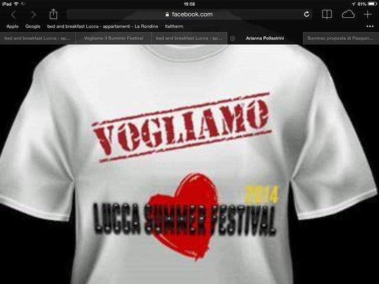 B&B La Rondine : Vogliamo il Lucca Summer Festival la Rondine B&B