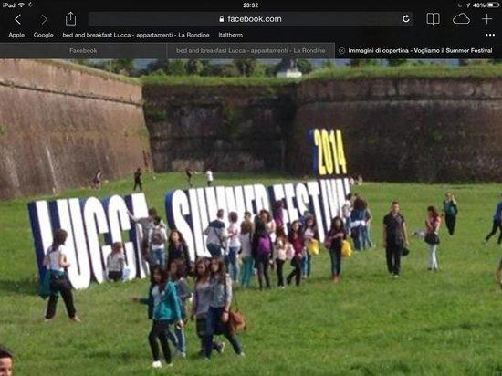 B&B La Rondine : Vogliamo, sosteniamo promoviamo il Summer Festival a Lucca