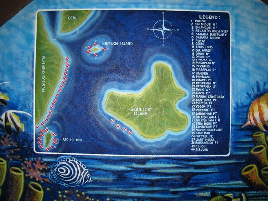Atlantis Dive Resorts Dumaguete: карта