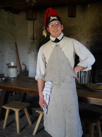 Old Fort Niagara: Baker in his apron