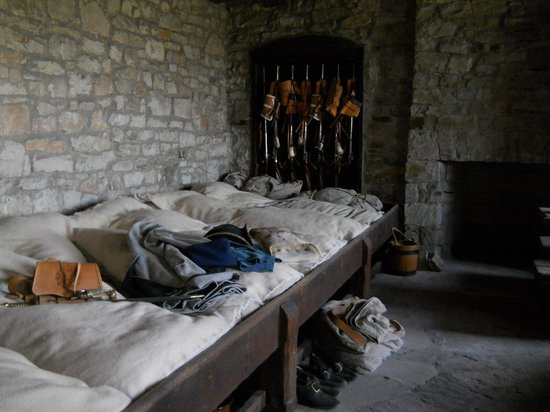 Old Fort Niagara: Sleeping and living quarters