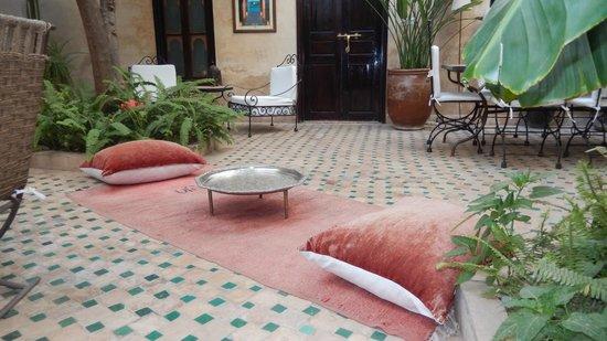 Riad Aguerzame : Riad courtyard