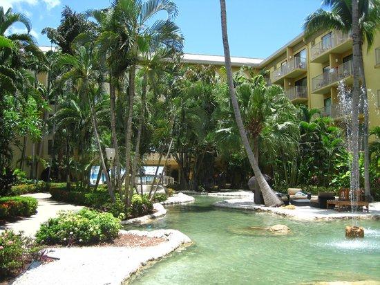 Grand Cayman Marriott Beach Resort: lush courtyard