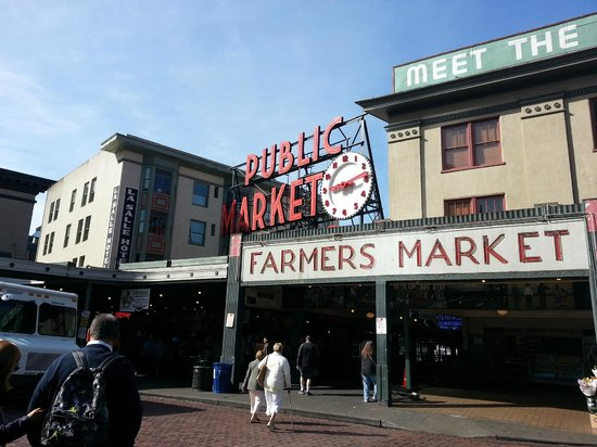 The Pike Place Market in Seattle