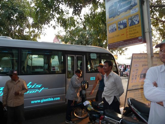 Rikitikitavi : Hotel arranged our bus trip back to Phnom Penh with pick up at the hotel