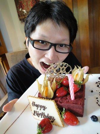 Four Seasons Resort Langkawi, Malaysia : Surprise birthday cake from Four Seasons Langkawi