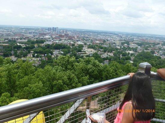 Vulcan Park and Museum: Birmingham sky line