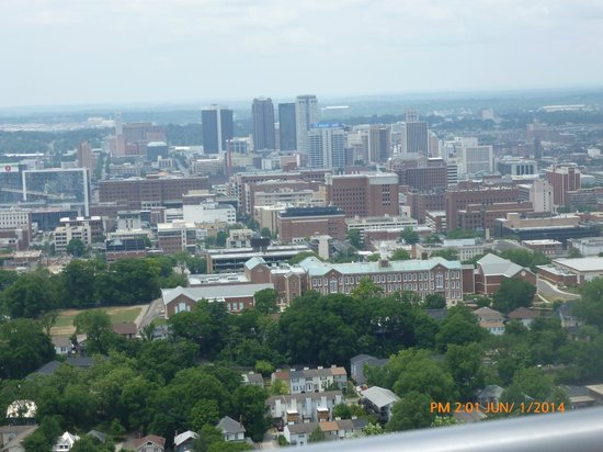 Vulcan Park and Museum: view of Birmingham from Vulcan