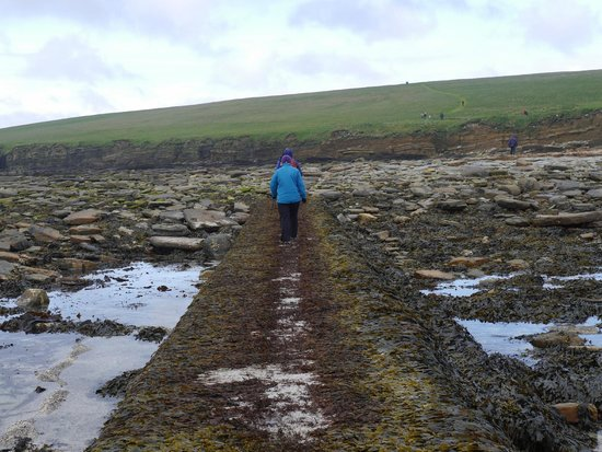Older section of causeway to Brough of Birsay