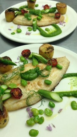 Chin! Chin! : Fresh Catch of the Day, Lemon Sole w/ Fondant new potatoes & Spinach Puree