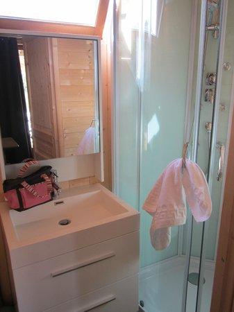 Cerza Safari Lodge : Aperçu salle de bain/toilettes