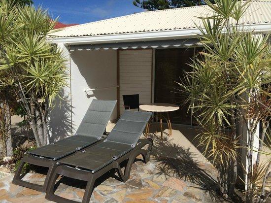 La Metisse : La terrasse de la chambre