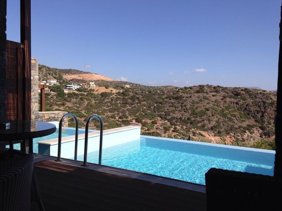 Daios Cove Luxury Resort & Villas : The view from our room complete with private pool on balcony. Bliss!!