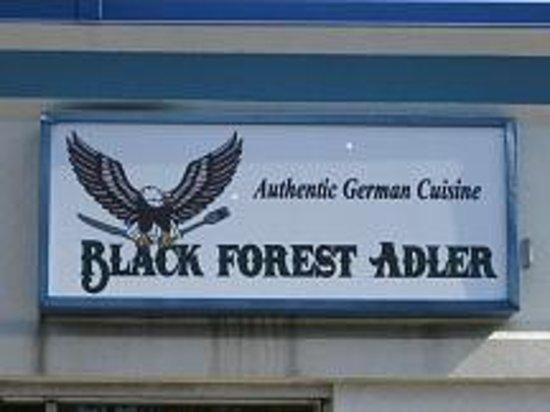 Black Forest Adler: Signs on the Building