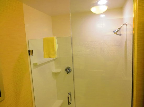 Fairfield Inn & Suites St. Louis West/Wentzville: Huge stall shower