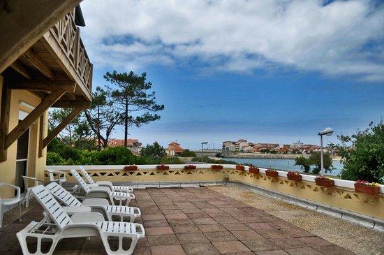 Hotel Mermoz : Terrasse du Haut