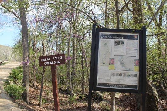 Signage, Great Falls Park, April 2014