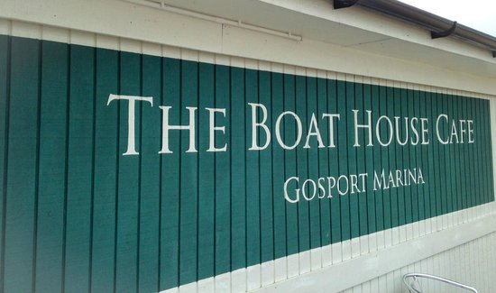 The Boat House Cafe Gosport Marina: Signage