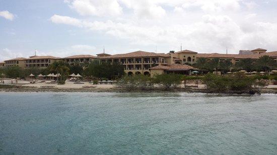 Santa Barbara Beach & Golf Resort, Curacao: View of the resort from the ocean