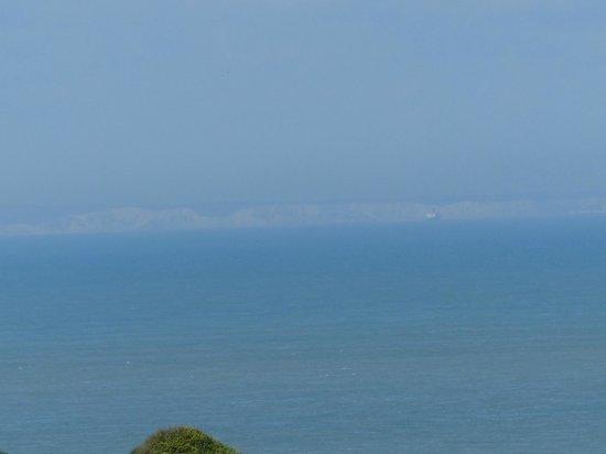 Wissant, ฝรั่งเศส: Met een beetje geluk kan je de Engelse kust zien.