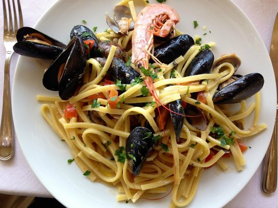 Really enjoyed this excellent scialatielli ai frutti di mare at Gocce di Capri Restaurant